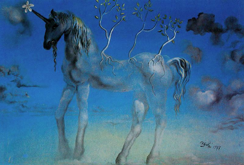Happy Unicorn, Dali (1977)