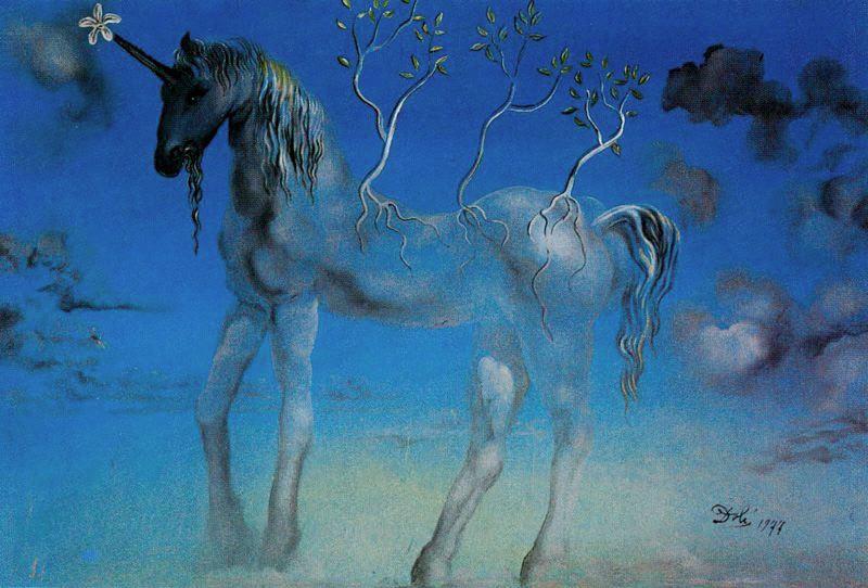 Happy Unicorn, Dali (1977)